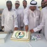 السيد جمال العلي وبعض اولياء اللاعبين يفتتحون التمرين الاول للاكاديمية