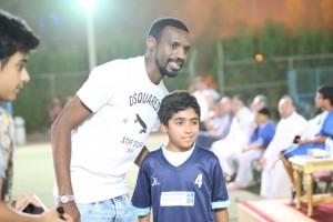 زيارة كابتن المنتخب السعودي والهلال سعود كريري للاكاديمية